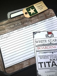 Have students get to know the people that were aboard the Titanic by having them write what they think the passenger packed. Comes with 32 different boarding passes, luggage tags and so much more.