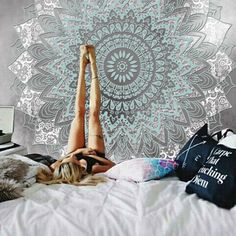 New Arrival Wall Hanging Mandala Tapestry Color Gradient Big Tapestry Jacquard Home Bedroom Decoration High Quality