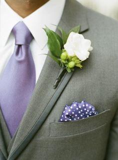 Washington DC Wedding Ceremony Purple Groom Tie 275x374 Modern Meets Vintage Wedding Ceremony in Washington DC: Jessica + Ian