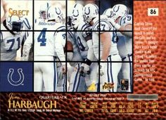 1996 Select - Artist's Proofs #86 Jim Harbaugh Back