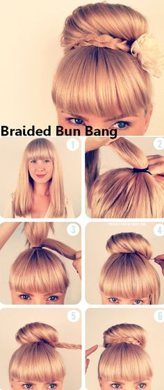 Braided bun bang.