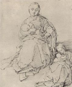 Study sheet with Mary and Child - Albrecht Durer