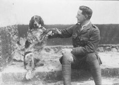 """Ltn. John McCrayCanadian poet, physician, author, artist and soldier during World War I, and a surgeon during the Second Battle of Ypres, in Belgium. He is best known for writing the famous war memorial poem """"In Flanders Fields"""".He was also an animal lover."""