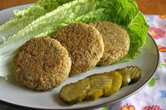 The Vegan Chickpea: Homemade Sunshine Burgers. Will need to at least double the recipes as it only makes 3 burgers. Veggie Recipes, Whole Food Recipes, Vegetarian Recipes, Cooking Recipes, Healthy Recipes, Free Recipes, Healthy Food, Healthy Eating, Vegan Treats
