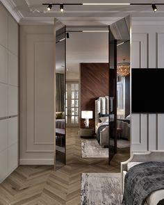 Showroom Interior Design, Luxury Homes Interior, Interior Design Living Room, Neoclassical Interior Design, Door Design, House Design, Small Office Design, Partition Design, Classic Interior