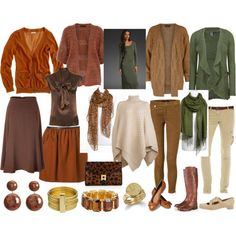 Rich, autumn colors. Dressy but not too formal. Perfect for work. -- Casual winter