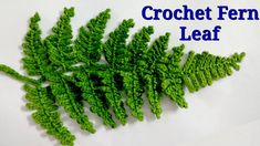 Crochet Fern 🌿 Leaf Crochet Fern 🌿 Leaf Learn the fact (generic term) of how to crochet, starting at Appliques Au Crochet, Crochet Leaf Patterns, Crochet Leaves, Crochet Motifs, Freeform Crochet, Crochet Art, Love Crochet, Irish Crochet, Crochet Stitches
