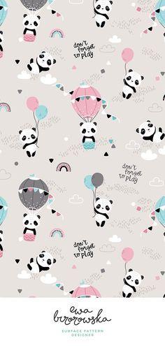 Don't forget to play - playful pandas nursery gender neutral textile pattern des. Panda Wallpaper Iphone, Cute Panda Wallpaper, Bear Wallpaper, Cute Disney Wallpaper, Cute Wallpaper Backgrounds, Galaxy Wallpaper, Fabric Wallpaper, Iphone Backgrounds, Aztec Wallpaper