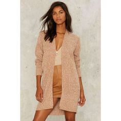 Harvest Moon Oversized Cardigan ($68) ❤ liked on Polyvore featuring tops, cardigans, beige, oversized tops, over sized cardigan, oversized chunky knit cardigan, beige cardigan and beige top