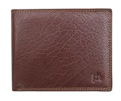 Mens Luxury Leather Tri-fold Wallet by Prime Hide from the Prato Range Italian Finished Grained Leather Lovely double stitched wallet edging