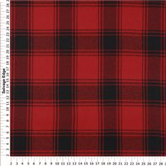 Red and Black Casual Woven Plaid Cotton Fabric love this fabric, so soft it feels like flannel