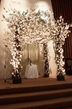 Design: Frank Rea, Forget Me Not Flowers Florals and Construction: Forget Me Not Flowers Wedding Chuppah, Romantic Wedding Receptions, Wedding Chairs, Wedding Themes, Elegant Wedding, Wedding Table, Wedding Ceremony, Light Wedding, Wedding Arches