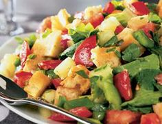 Fattoush Salad aka bread salad  - Vegetairan  Recipe
