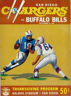 AFL game program (Buffalo Bills at San Diego Chargers — November 26, 1964)