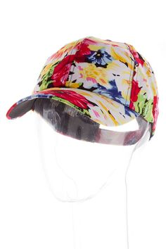 VIBRANT FLORAL CAP #wholesale #summer #newarrivals #bags #purse #belt #accessories #fashion #clothing #ootd #wiwt #shopitrightnow #hat #fedora #IndependenceDay #FourthofJuly