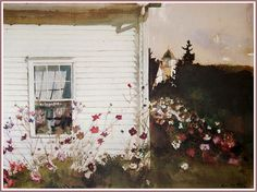 Andrew Wyeth Watercolor Paintings | Andrew Wyeth 'Around the Corner' 1994 watercolor | Flickr - Photo ...