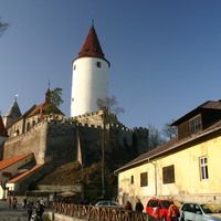 Krivoklat castle - view from village. Join us to beautiful half day trip from Prague. Book now on our website !