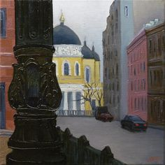 Ruben Monakhov. The Pillar. Oil on canvas, 35х35 cm., 2015. http://rubenm.spb.ru