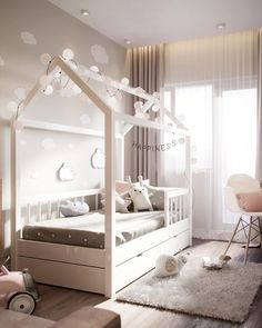 LOOK: Find Modern Kids Bedroom Interior Design Including Brilliant Ideas Girls White Bedroom Set, Girls Bedroom Sets, Box Bedroom, Modern Kids Bedroom, Bedroom Hammock, Girls Canopy, Canopy Beds, Bedroom Decor, Nursery Dark Furniture