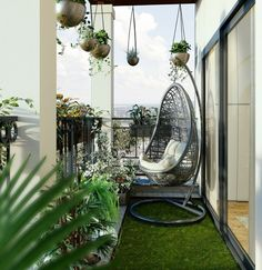 25 balcony design ideas for your home and your home - Johnathan Toms - Kleiner Balkon - Balcony Furniture Design Modern Balcony, Small Balcony Design, Small Balcony Garden, Small Balcony Decor, Balcony Plants, House Plants Decor, Terrace Design, Small House Design, Balcony Ideas
