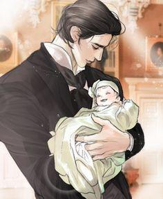 Couple Anime Manga, Anime Dad, Cool Anime Guys, Handsome Anime Guys, Anime Love, Romantic Anime Couples, Romantic Manga, Art Anime Fille, Anime Art Girl
