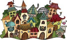 рисунок домики: 22 тыс изображений найдено в Яндекс.Картинках