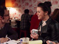 coffee date scene, colors