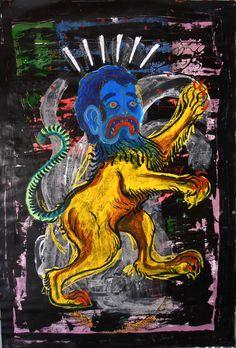 Quimera con cabeza azul Diego Mundarain 2016
