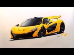 Drawing - McLaren P1 - YouTube