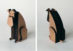 Jouet en bambou réalisé à la découpe laser par Shaun Hill (studio sudafricain Say Who)