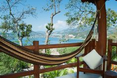 The view of Zihuatanejo Bay from our junior suite, Pinzan, at Solana, a boutique Bed & Breakfast in Zihuatanejo, Mexico