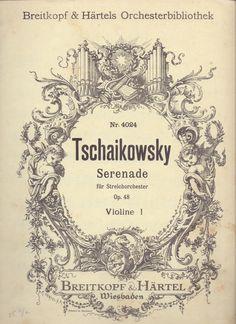 TSCHAIKOWSKY, P.I. Serenade für Streichorchester, op.48. Breitkopf&Härtel. Wiesbaden.