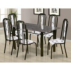 Oferta Mobly - Conjunto de Mesa Granada com 6 Cadeiras, por apenas R$620,00