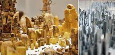 Οι εκπληκτικές, μικροσκοπικές πόλεις του Peter Root Candles, Art, Art Background, Kunst, Candy, Performing Arts, Candle Sticks, Art Education Resources, Candle