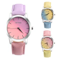 >> Click to Buy << 2017 Relogio Feminino erkek kol saati Retro Rainbow Design Leather Band Analog Alloy Quartz Wrist Watch #June6 #Affiliate