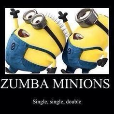 Gotta love zumba minions :)