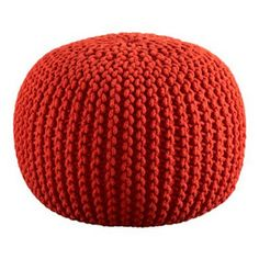Looks easy. I think even I could do this!  Home Ec Flunkee: How to Make a Knitted Pouf Ottoman