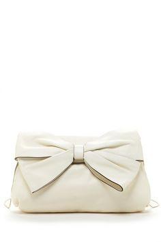 Valentino Leather Bow Shoulder Bag