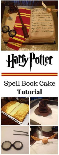 Harry Potter Inspired Spell Book Cake Tutorial