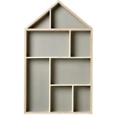 Ruim je spullen netjes op in deze Bloomingville Display Kast. De kast heeft de vorm van een huis, dat is ingedeeld in verschillende vakjes voor allerlei soorten spullen. Een speelse blikvanger voor aan de muur. Zet er kleine vaasjes in ter decoratie of gebruik het voor het opbergen van accessoires.