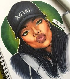 Finished RiRi ✨⚓️ ✍ // Please tag @badgalriri and repost so she can seeee it ! [ SHE LIKED !!! ]