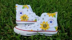 high top converse / sorority / custom painted shoes / shanny's shoes