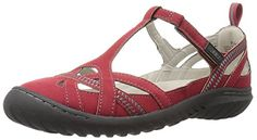 JBU by Jambu Womens CharleyEncore Flat Red 85 M US >>> You can get more details by clicking on the image.