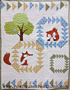Fox in a Box Baby Quilt Pattern with Applique   Etsy
