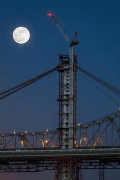 Supermoon 2012 - Bay Bridge by tobyharriman, via Flickr