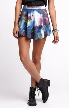 The In Crowd - Galaxy Skater Skirt