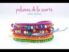 Cómo hacer una pulsera de ganchillo con bolitas   How to make a crochet bracelet - YouTube