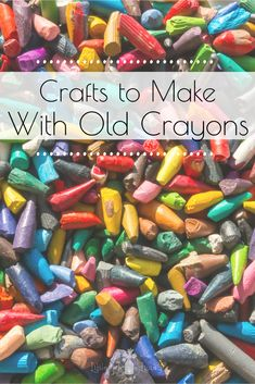 Oct 2019 - Do you have a lot of old, broken or unused crayons laying around? Give your old crayons new life with these Creative Crafts for Old Crayons! Easy Crafts For Kids, Craft Activities For Kids, Creative Crafts, Preschool Crafts, Diy Crafts To Sell, Projects For Kids, Art For Kids, Art Projects, Kid Art