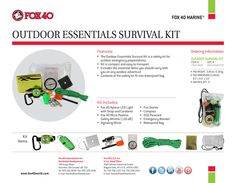 Fox 40 Outdoor Essentials Survival Kit #Fox40Outdoors http://www.fox40shop.com/s.nl/sc.7/.f