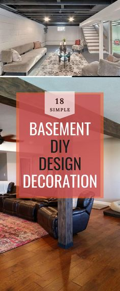 Basement Decor ! Tips For Styling Your Dream Basement #basementdesign #basementideas Diy Design, Design Ideas, Basement Decorating, Decoration, Diy Home Decor, Sweet Home, Decor Ideas, Elegant, Simple